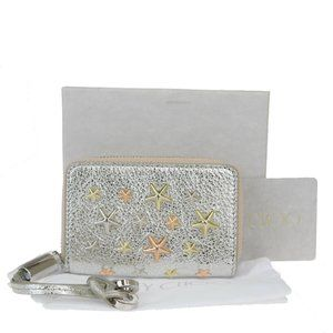 Jimmy Choo Star Studs Leather Coin Purse/coin Case